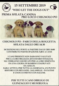 Who let the dogs out - Pro Loco Chignolo Po