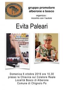 """il Gruppo promotore Alberone e Bosco organizza:""""Incontro con l'autore: Evita Paleari"""""""