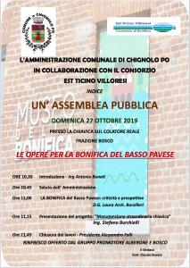 Assemblea Pubblica per illustrare le Opere di Bonifica del Basso Pavese
