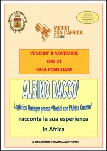 Albino Daccò racconta la sua esperienza in Africa