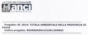Pubblicazione graduatorie: Bando del Servizio Civile Universale - Progetto SC 2019: Tutela ambientale nella Provincia di Pavia - ANCI Lombardia
