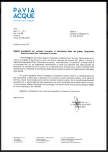 PAVIA ACQUE INFORMA - DISINFEZIONE DELLE RETI PRESSO L' ACQUEDOTTO INTERCOMUNALE DI SAM COLOMBANO AL LAMBRO (AGGIORNATO IN DATA 04/08/2020)