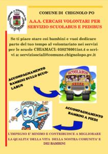 CERCASI VOLONTARI PER SERVIZIO SCUOLABUS E PEDIBUS