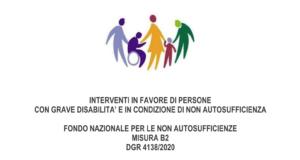 Fondo Non Autosufficienza 2020 - interventi in favore di persone disabili gravi e non autosufficienti