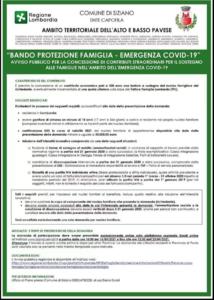 REGIONE LOMBARDIA - BANDO PROTEZIONE FAMIGLIA EMERGENZA COVID-19