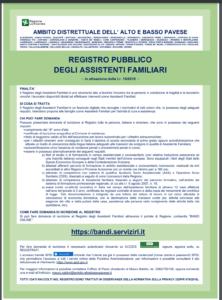 Registro degli Assistenti Familiari - AVVISO PUBBLICO