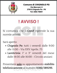 IL COMUNE INFORMA - RIPRESA SERVIZIO CAAF