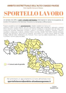 SPORTELLO LAVORO: AMBITO TERRITORIALE ALTO E BASSO PAVESE - (aggiornato con nuovo bollettino del 7 settembre 2020)
