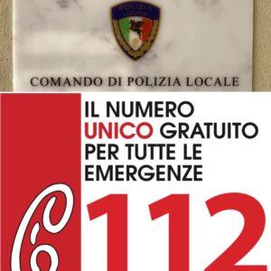 POLIZIA LOCALE INFO: Attivo un numero diretto per parlare con la Polizia Locale