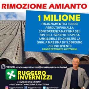 BANDO REGIONALE PER LA RIMOZIONE DELL'AMIANTO