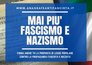 "RACCOLTA FIRME PER ""L' ANAGRAGRAFE ANTIFASCISTA"""