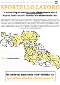 SPORTELLO LAVORO: AMBITO TERRITORIALE ALTO E BASSO PAVESE (aggiornato con bollettino del 20/09/21)